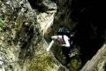 trudności techniczne przy wyjściu z jaskini