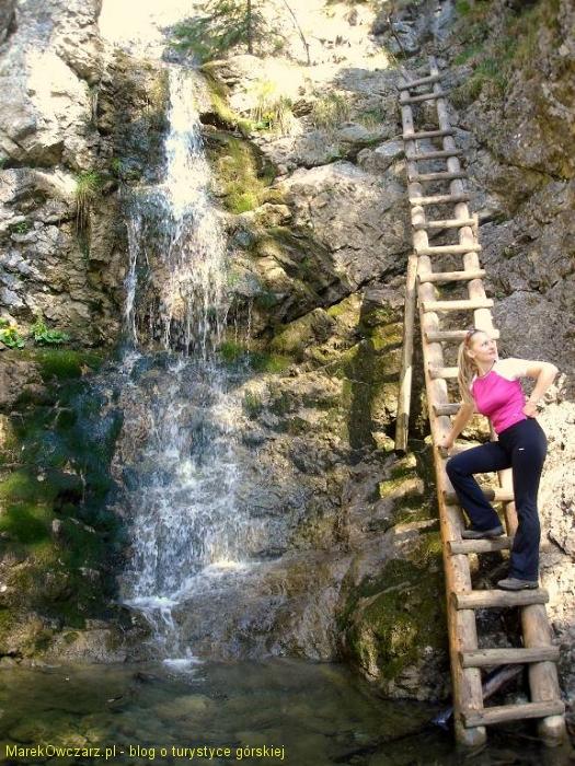 Amelka i wodospad Roztocki