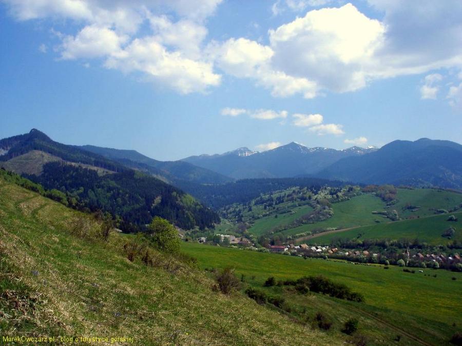 wieś Kwaczany u podnóży Tatr
