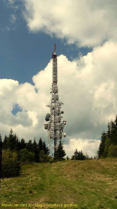 wieża przekaźnikowo - nadawcza na Hali Przehyba