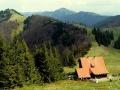 chata pod Borisovem i Sopron widziane z podejścia na Borisov