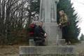 z córką na Radegaście, przy posągu słowiańskiego Boga
