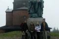 nasza ekipa przy pomniku św. Cyryla i Metodego na Radhoście