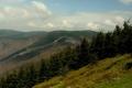 widok w stronę przełęczy Pustevny i szczytu Tanecnica