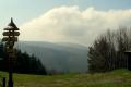 panorama z siodła Pustevny na Radhosta i Radegasta