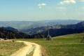 panorama Beskidu Sądeckiego z przełęczy Obidza