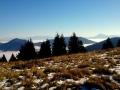 Tatry i Wielki Chocz widziane z przełęczy Medzirozsutce
