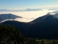 panorama Tatr, Chocza i Niżnych Tatr nad morzem mgieł