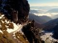 skalny trawers nad przełęczą Medziholie