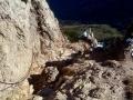 skaliste zejście na siodło Medziholie