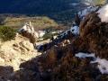 stroma ścieżka w dół na przełęcz Medziholie