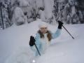 Magda cała w sniegu
