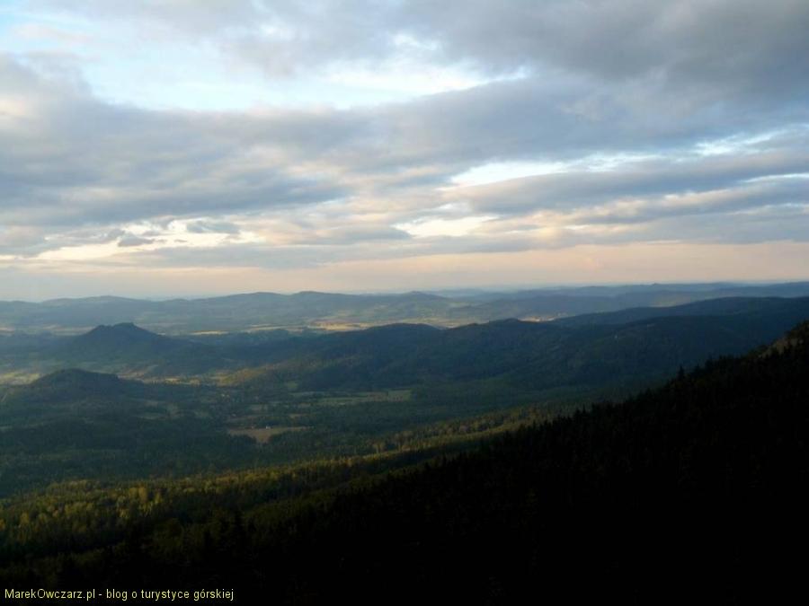panorama Rudaw z Małej Ostrej