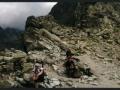panorama z przełęczy Waga, z Gankiem po lewej