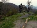 na ruinach Zbójnickiego zamku