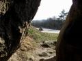 widok z groty w skale Grunwald