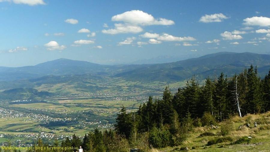 panorama od Babiej Góry po Pilsko