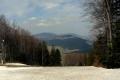 widok z nartostrady na Śnieżnicy
