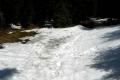 pola śnieżne pod szczytem