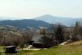 widok na Luboń Wielki z przełęczy Gruszowiec