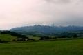 spojrzenie na Tatry z Czarnej Góry