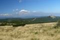 widok z grani granicznej na Góry Izerskie i Szrenicę