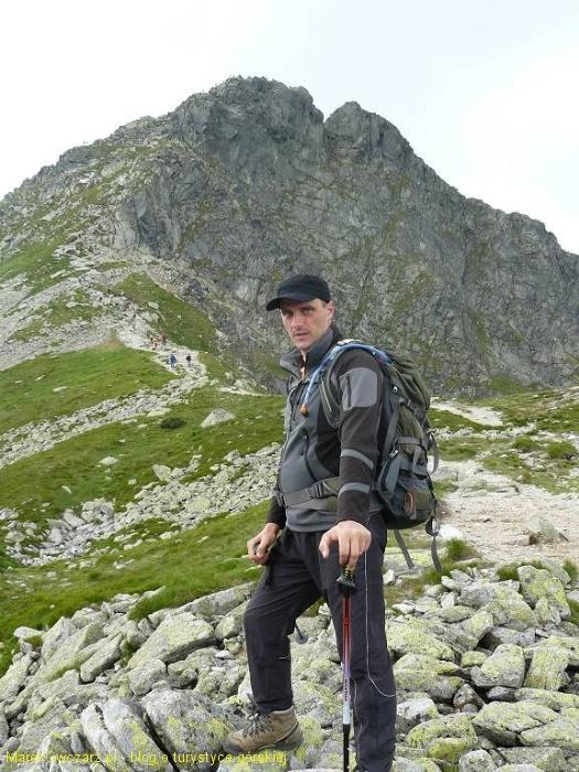 na przełęczy Jamnickiej, za mną podejście na Rohacza Ostrego