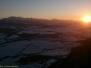 Zachód słońca na Trzech Koronach