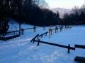 widok na Gorce z przełęczy Szopka