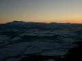 panorama Tatr po zachodzie słońca