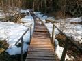 drewniane pomosty na szlaku