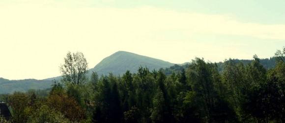 widok ze wsi Nadole