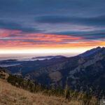 Wschód słońca z Wyżniej Przełęczy Kondrackiej