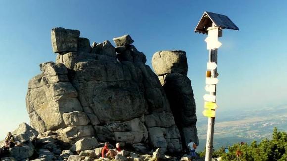 Słonecznik, jedna z najsłynniejszych skał Karkonoszy