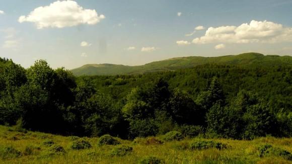 widok na Drohobycki Kamień i Starostynę z przełęczy Kut