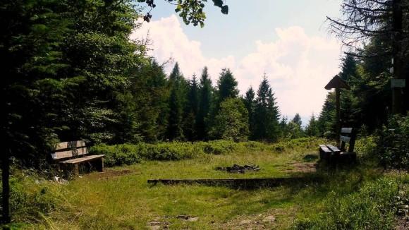 wierzchołek Eliaszówki, rozejście szlaków