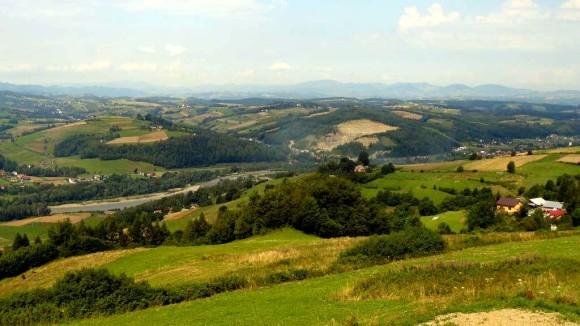 panorama Doliny Popradu i Beskidu Wyspowego