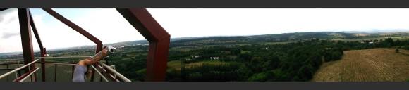 panorama z wieży w Trzcinicy