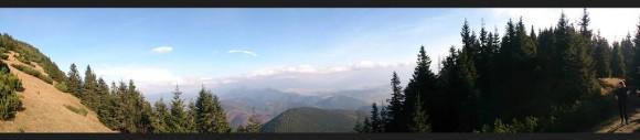 panorama z przełęczy Wrótka na Góry Choczańskie