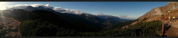 widok z Szerokiej Przełęczy Bielskiej