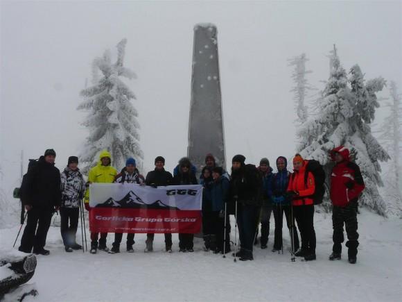 nasza ekipa na szczycie Turbacza