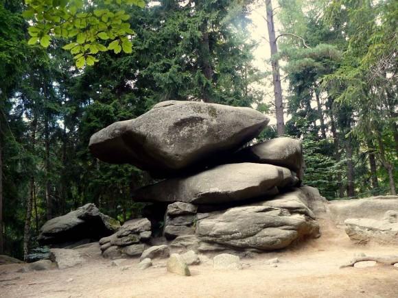 skała Chybotek w Szklarskiej Porebie