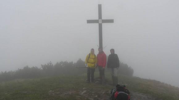 taka mgła czekała na nas na szczycie Rakytova