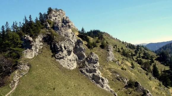 masyw Ostrej w skalnej części Wielkiej Fatry