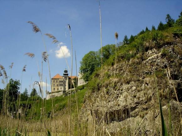 Zamek w Pieskowej Skale widziany z parku krajobrazowego