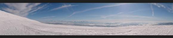 panorama na Tatry i słowackie pasma górskie