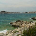 Miasteczko Primosten i wzgórze Kremik nad Adriatykiem