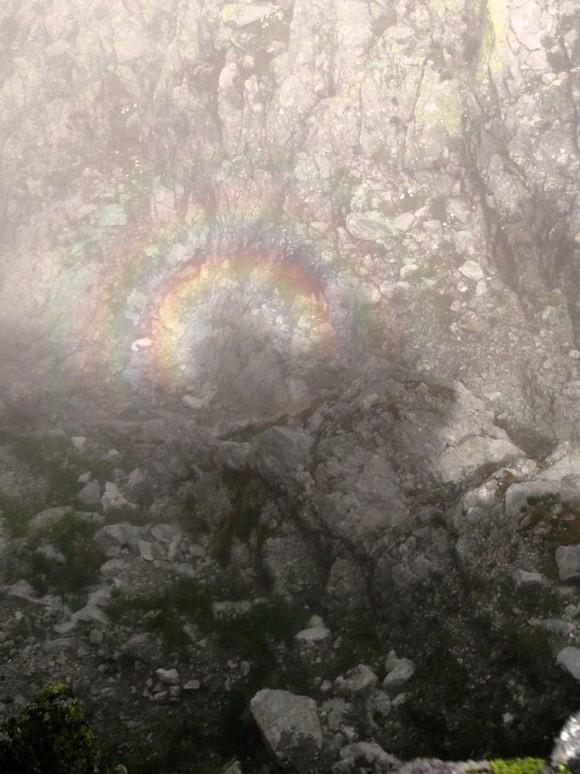 małe Widmo Brockenu widziane z przełęczy