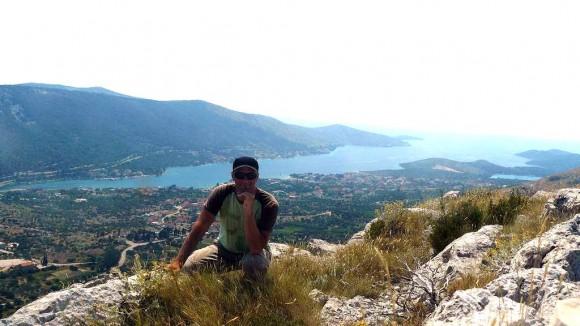 widok z drugiego szczytu na Morze Adriatyckie
