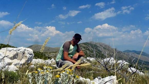 widok w kierunku najwyższego szczytu Orlicy